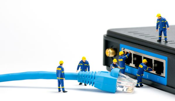 Technicians Connecting Network